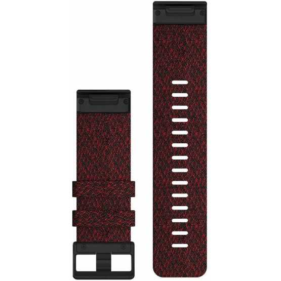 Ремешок для Fenix 6x 26mm QuickFit Heathered Red Nylon bands (010-12864-06)