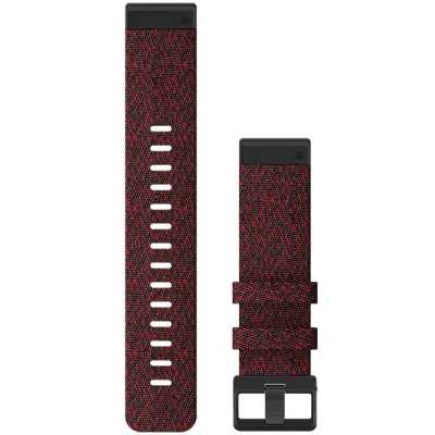 Ремешок для Fenix 6x 26mm QuickFit Heathered Red Nylon bands