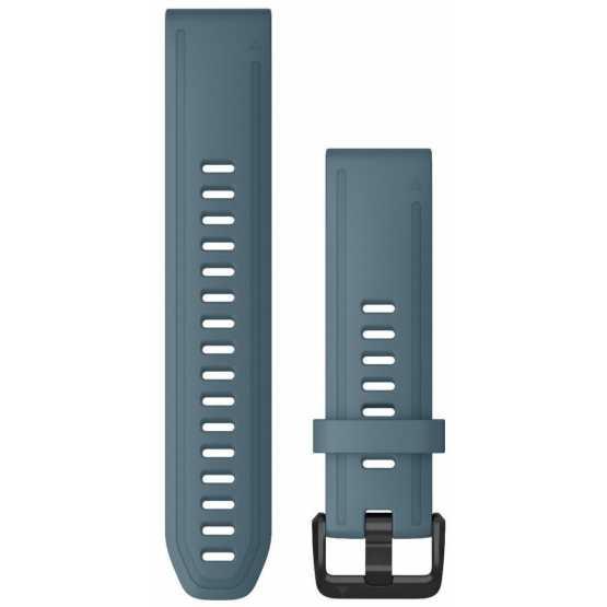 Ремешок для Garmin Fenix 6s 20mm QuickFit Lakeside Blue Silicone (010-12870-00)