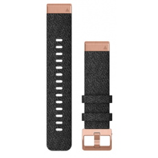 Ремінець для Fenix 6s 20mm QuickFit Heathered Black Nylon with Rose Gold