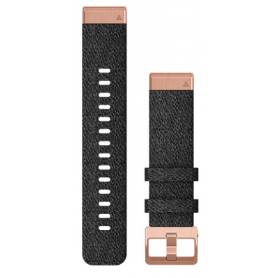 Ремешок для Fenix 6s 20mm QuickFit Heathered Black Nylon with Rose Gold
