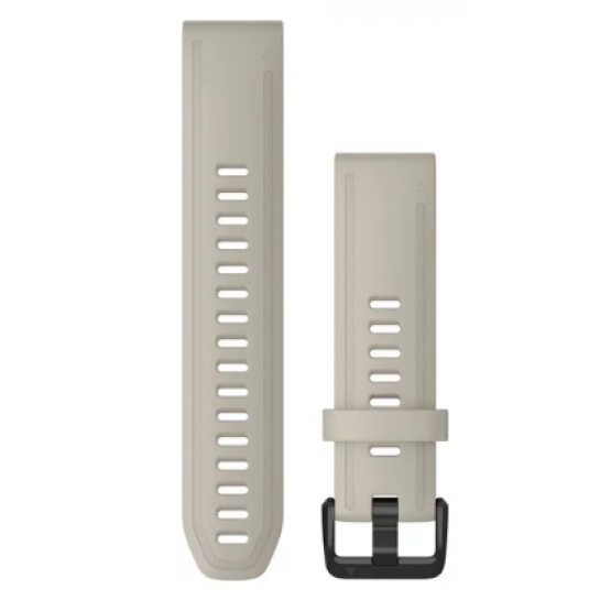 Ремінець для Garmin Fenix 6s 20mm QuickFit Light Sand Silicone (010-12869-00)