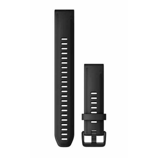 Ремінець для Garmin Fenix 6s 20mm QuickFit Black Silicone Large (010-12942-00)