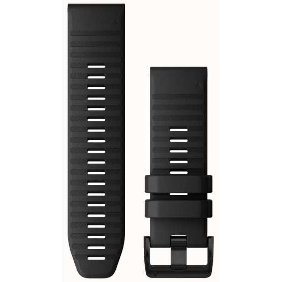 Ремінець для Fenix 6x 26mm QuickFit Black Silicone bands (010-12864-00)