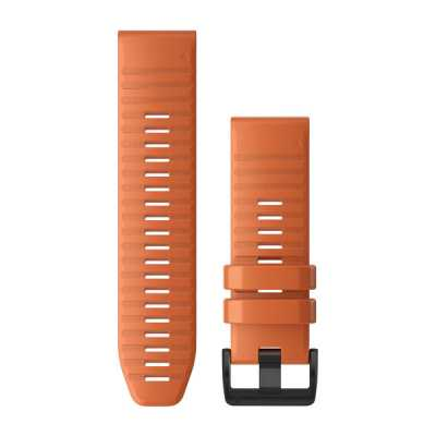 Ремешок для Fenix 6x 26mm QuickFit Ember Orange Silicone bands