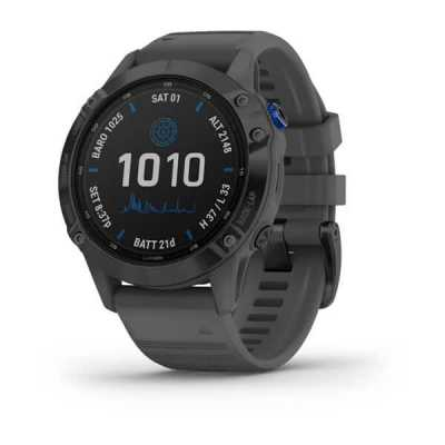 Часы Garmin Fenix 6 Pro Solar Edition Black with Slate Gray Band