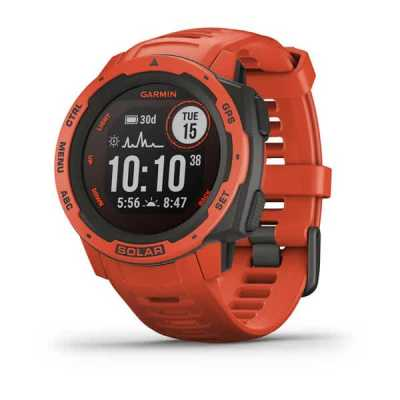 Годинник Garmin Instinct Solar Flame Red