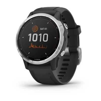 Часы Garmin Fenix 6S Solar Silver with black band