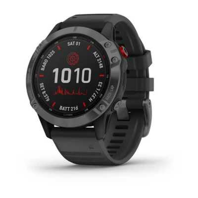 Часы Garmin Fenix 6 Pro Solar Edition Slate Gray with Black Band