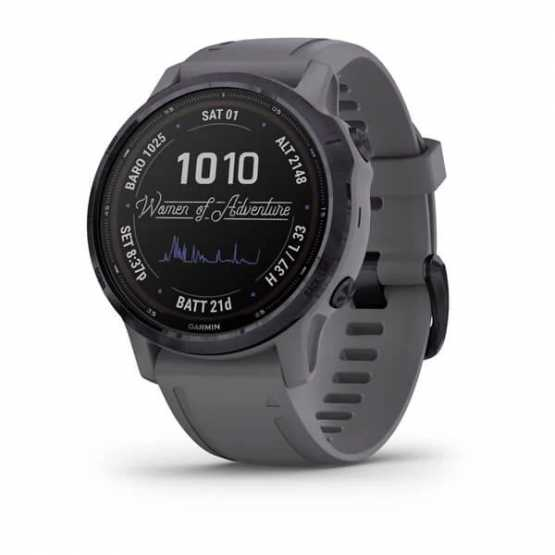Garmin Fenix 6S Pro Solar Edition Amethyst Steel with Shale Gray Band (010-02409-15)
