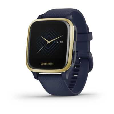 Смарт годинник Garmin Venu Sq Music Light Gold Aluminum Bezel with Case Navy