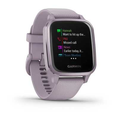 Смарт годинник Garmin Venu Sq Metallic Orchid Aluminum Bezel with Case Orchid