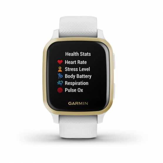 Garmin Venu Sq Light Gold Aluminum Bezel with White Case (010-02427-11)
