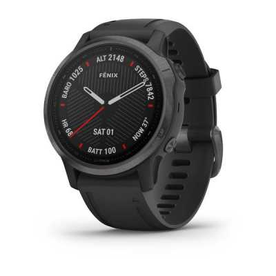 Garmin Fenix 6S Carbon Gray DLC with Black Band