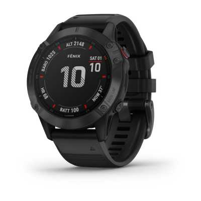 Garmin Fenix 6 Black with Black Band