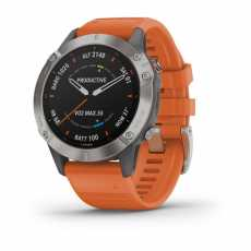 Garmin Fenix 6 Titanium with Ember Orange Band