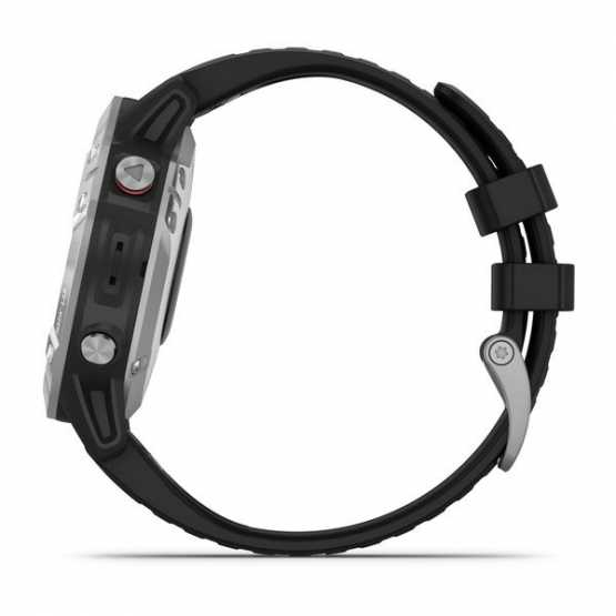 Годинник для мультиспорту Garmin Fenix 6 Silver with Black Band (010-02158-00)