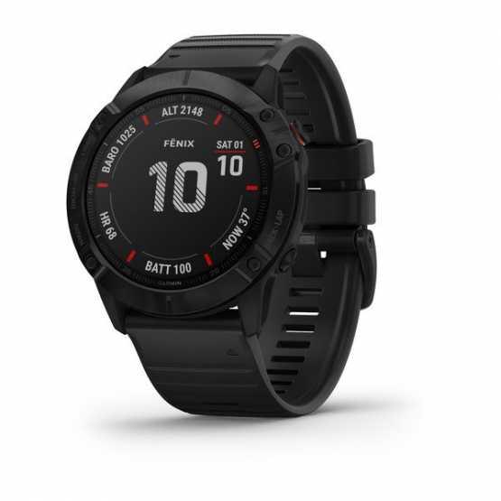 Годинник для мультиспорту Garmin Fenix 6X Pro Black with Black Band (010-02157-01)