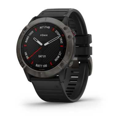 Часы Garmin Fenix 6X Carbon Gray DLC with Black Band