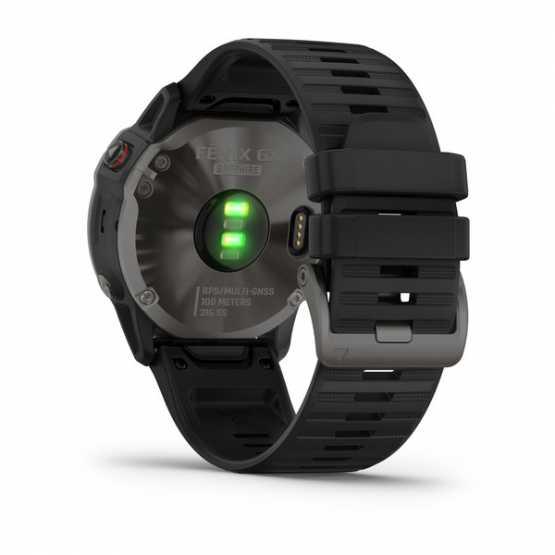 Часы для мультиспорта Garmin Fenix 6X Sapphire Carbon Gray DLC with Black Band (010-02157-11)