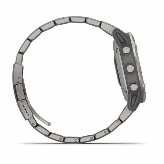 Годинник для мультиспорту Garmin Fenix 6 Sapphire Titanium with Vented Titanium Bracelet (010-02158-23)