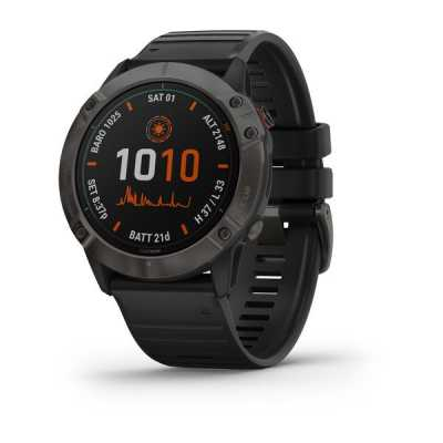 Часы Garmin Fenix 6X Titanium Carbon Gray DLC with Black Band