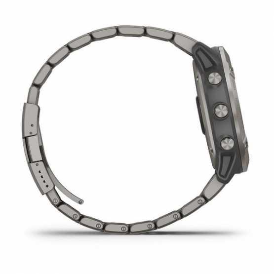 Часы для мультиспорта Garmin Fenix 6X Pro Solar Titanium with Vented Titanium Bracelet (010-02157-24)