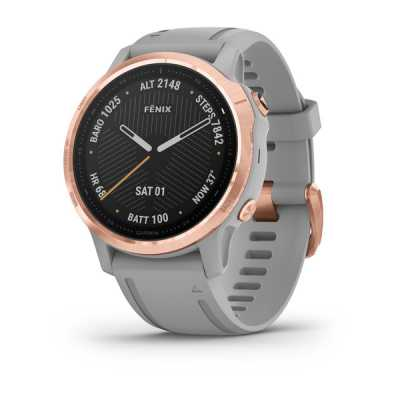 Garmin Fenix 6S Rose Gold-tone with Powder Gray Band