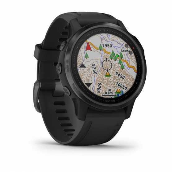 Годинник для мультиспорту Garmin Fenix 6S Black with Black Band (010-02159-14)