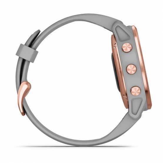 Годинник для мультиспорту Garmin Fenix 6S Sapphire Rose Gold-tone with Powder Gray Band (010-02159-21)