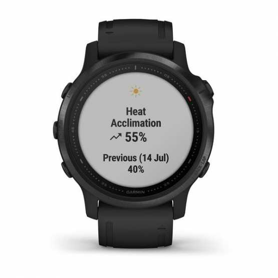Часы для мультиспорта Garmin Fenix 6S Pro Black with Black Band (010-02159-14)