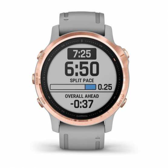 Часы для мультиспорта Garmin Fenix 6S Sapphire Rose Gold-tone with Powder Gray Band (010-02159-21)