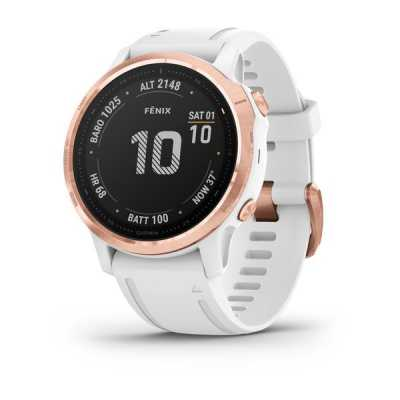 Garmin Fenix 6S Rose Gold-tone with White Band