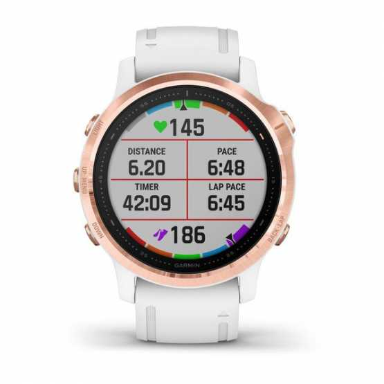 Часы для мультиспорта Garmin Fenix 6S Pro Rose Gold-tone with White Band (010-02159-11)