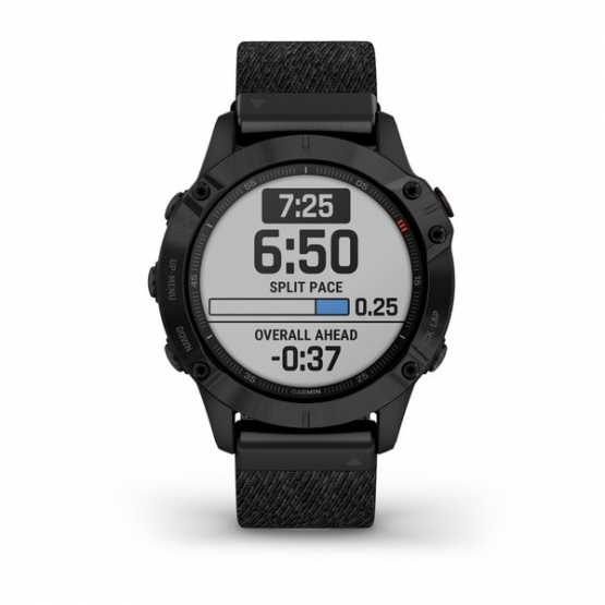 Часы для мультиспорта Garmin Fenix 6 Sapphire Black DLC with Heathered Black Nylon Band (010-02158-17)