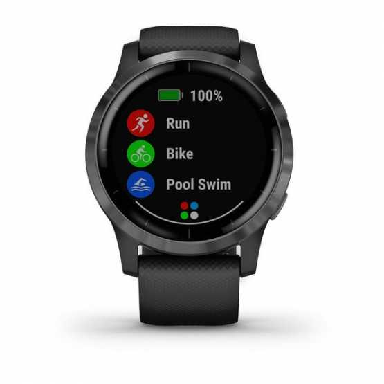 Годинник для спорту Garmin vivoactive 4 Shadow Gray/Silver (010-02174-03)