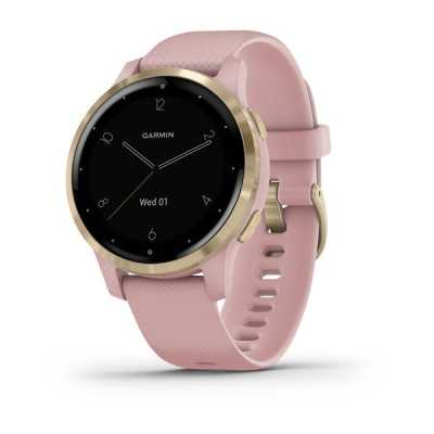 Часы Garmin vivoactive 4S Dust Rose/Light Gold