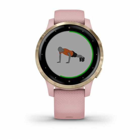 Часы для спорта Garmin vivoactive 4S Dust Rose/Light Gold  (010-02172-33)