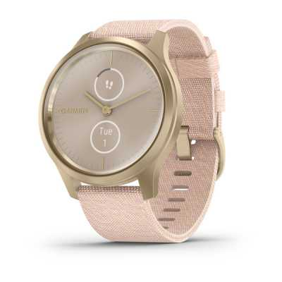 Часы Garmin vivomove Style Champagne-Dust Rose Fabric