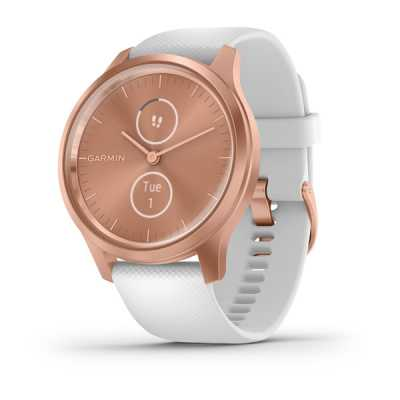 Garmin vivomove Style Rose Gold-White Silicone