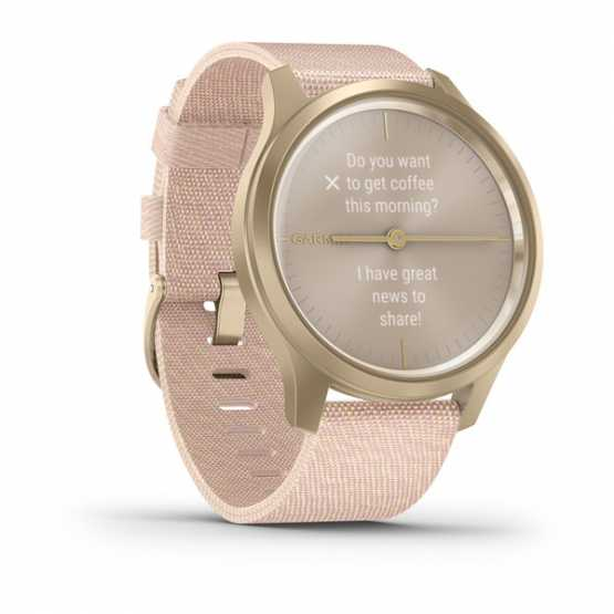 Часы для спорта Garmin vivomove Style Champagne-Dust Rose Fabric (010-02240-22)