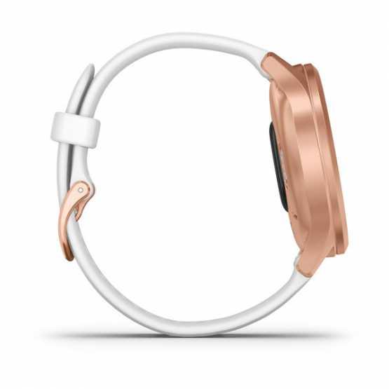 Часы для спорта Garmin vivomove Style Rose Gold-White Silicone (010-02240-20)