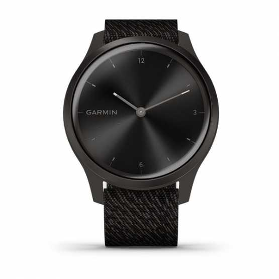 Часы для спорта Garmin vivomove Style Gunmetal-Dark Gray Fabric (010-02240-23)