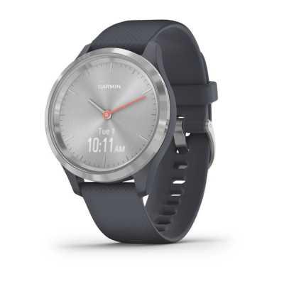 Часы Garmin vivomove 3S Sport Silver-Blue Silicone