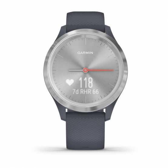 Годинник для спорту Garmin vivomove 3S Sport Silver-Blue Silicone (010-02238-20)