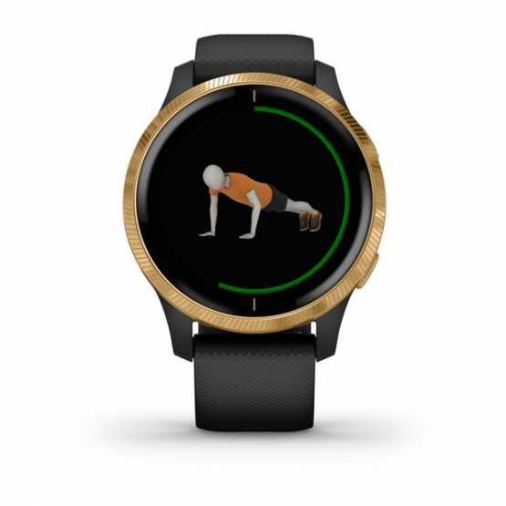 Часы для спорта Garmin Venu Black/Gold  (010-02173-33)