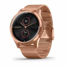 Годинник Garmin vivomove Luxe Rose Gold-Black Milanese