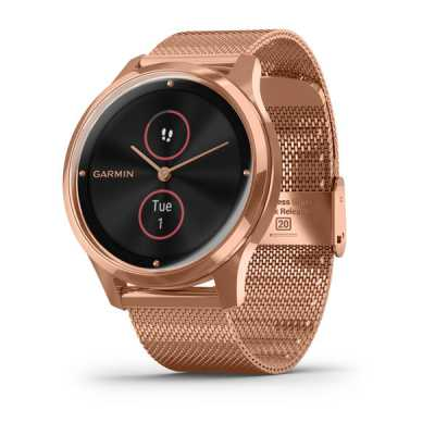 Часы Garmin vivomove Luxe Rose Gold-Black Milanese