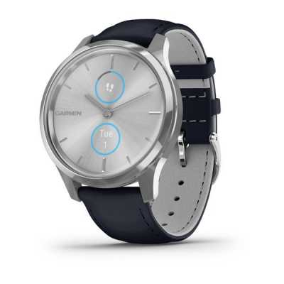 Garmin vivomove Luxe Silver-Blue Leather