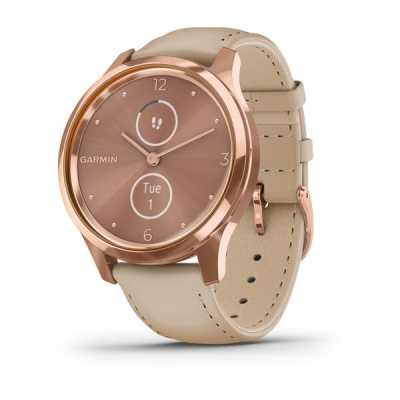 Часы Garmin vivomove Luxe Rose Gold-Beige Leather